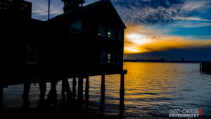 Sunset at the seaport Village in San Diego Ca